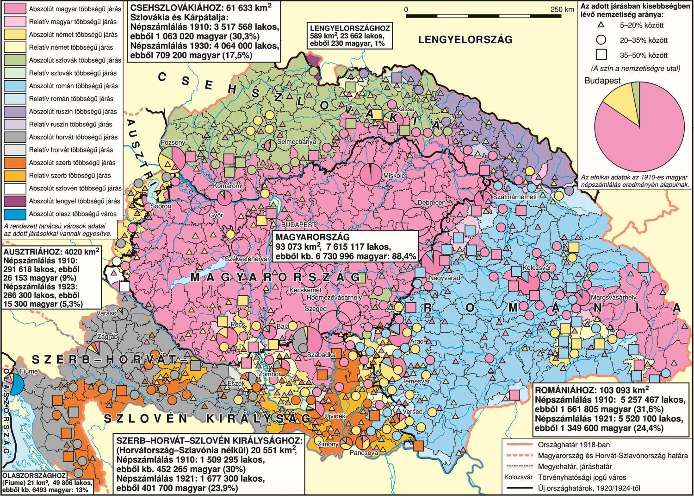 Trianoni Magyarország Térkép